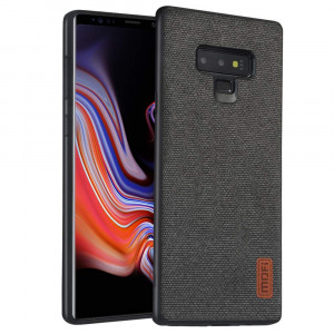 Samsung Galaxy Note 9 Case, Anti-Scratch Shock-Absorbing Fabric Business Men Covers with Silicone Soft Edges and Great Grip, Fully-Protective and Compatible for Samsung Galaxy Note9(Black)
