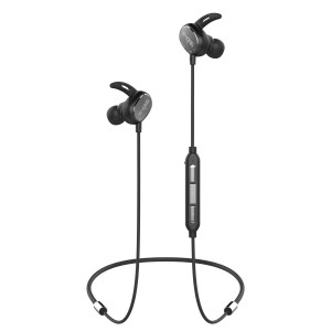 W-KING Wireless Bluetooth Headphones Best Noise Cancelling Bluetooth Headphone Wireless Sports Earphones w/Mic IPX5 Waterproof Sweatproof 6 Hours Playtime Earbuds Magnetic Connection Headset (Black)