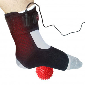 Creatrill Heated Achilles Tendonitis/Plantar Fasciitis Foot Ankle Wrap with 3 Level Controller, Pad for Moist Heat Therapy, Injuries Pain Relief for Sprains, Strains, Arthritis, Torn Tendons