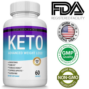 Shark Tank Keto Weight Loss Pills Advanced - BHB Salt Fat Burner Using Ketone and Ketogenic Diet, Fast and Effective Ketosis for Men Women, Boost Energy While Burning Fat, 60 Capsules, Lux Supplement