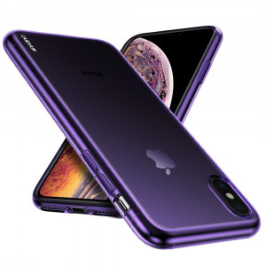 iPhone XS Max Case, CASEVASN [Slim Thin] Anti-Scratches Flexible TPU Gel Rubber Soft Skin Silicone Protective Case Cover for Apple iPhone XS Max (Purple)