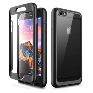 iPhone 6 Plus Case, SUPCASE Unicorn Beetle Style Series Premium Hybrid Protective Clear Case with Built-in Screen Protector for iPhone 6 Plus (Black)