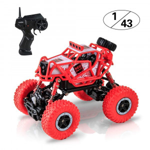 BIG HOUSE Remote Control Car, 1:43 Scale Electric High Speed RC Truck 2.4GHz 4WD Offroad Remote Control Climbing Race Vehicle as Best Christmas Xmas Year Gift Kids Adults