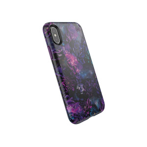 Speck Products Presidio Inked iPhone Xs/iPhone X Case, GalaxyFloral/Cala Purple