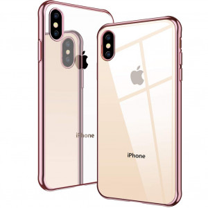 DIACLARA Clear Case Compatible with iPhone Xs/ X, Ultra Slim Cover with Plating Edge Flexible Premium Soft TPU Case Compatible with Apple iPhone X/Xs 5.8 Inch (2017/2018)