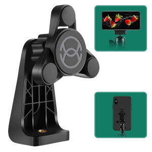ORASANT Phone Tripod Mount Fit for iPhone and Ipad, Strong Magnetic Phone Tripod Adapter No Limit On Cellphone Size, Anti-Wobble, 360 Rotatableand Tiltable Tripod Phone Holder for Smartphones, Tablets