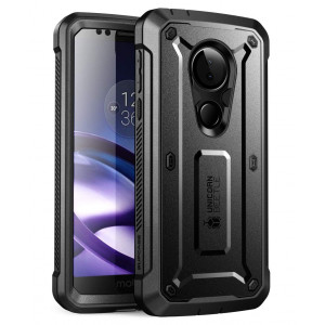 Moto G6 Play Case, SUPCASE Full-Body Rugged Holster Case with Built-in Screen Protector for Motorola Moto G6 Play (2018 Release), Unicorn Beetle Pro Series - Retail Package (Black)