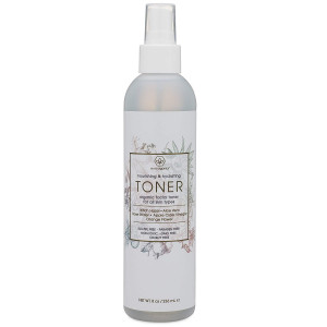 Organic Face Toner Spray - Extra Nourishing and Hydrating Natural Facial Mist with Witch Hazel, Apple Cider Vinegar, Rose Water for Dry, Oily, Acne Prone Skin. Balance pH, Nourish and Moisturize 8oz.