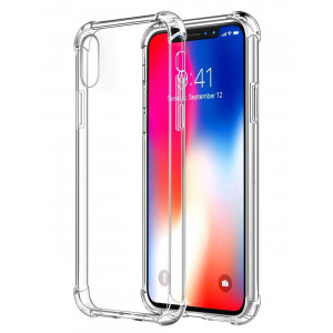 "iPhone Xs Max Case,iPhone Xs Max Case Clear,iPhone Xs Max Slim Case,ComoUSA Slim Clear Soft Reinforced Corners TPU Cover for 6.5"" iPhone Xs Max(Clear)"