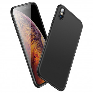 GEARART for Slim iPhone Xs Case,Ultra Thin Light [Hard PC] Protective Cover with Coated Matte Surface for iPhone Xs (Only) 5.8 Inch 2018 Release [Support Wireless Charging],Black