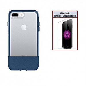 Otterbox Exclusive Bundle: Ultra-Slim Case for iPhone 8 Plus/7 Plus  Extreme Drop Protection - Premium Leather - Scratch Resistant  Blazer + Bonus Clear Tempered Glass Screen Protector