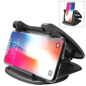 IPOW 360 Degree Rotatable Car Dashboard Phone Mount Hold Phones Vertically/Horizontally,Car Cell Phone Holder Compatible with GPS,iPhone 7 6 6s X XS 8 Plus Samsung S9 S8 S7 S6 Note 8 Google