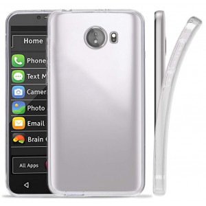 Jitterbug Smart2 Case, Transparent See-Thru Clear Flex Gel TPU Skin Slim Cover for GreatCall Jitterbug Smart2