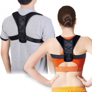 Posture Corrector, Taisk Posture Back Brace for Men and Women- Comfortable Upper Back Brace Clavicle Support Device for Thoracic Kyphosis and Shoulder - Neck Pain Relief