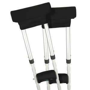 Vive Crutch Pads - Padding for Walking Arm Crutches - Padded Universal Underarm, Forearm Handle Pillow Covers for Hand Grips, Armpit - Soft Foam Bariatric Accessories for Adults, Kids (1 Pair)