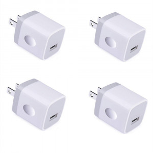 USB Wall Charger, UorMe 1A 5V Single Port Wall Charger Plug Block Cube 4 PC Compatible iPhone X/8/7/6S Plus/6 Plus/6/5S/5, Samsung Galaxy S9/S8/Note 8/S7 Edge,HTC,Nexus,Moto, BlackBerry More