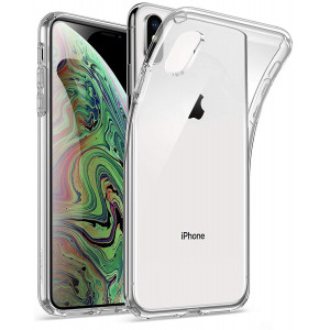 """iPhone Xs Max Clear Case, Poetic Lumos Flexible Soft Transparent Ultra-Thin Impact Resistant TPU Case for Apple iPhone Xs Max 6.5"""" OLED Display - Crystal Clear"""