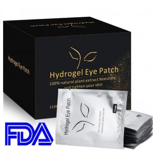110 Pairs Under Eye Pads, Eyelash Extension Eye Pads, 100% Natural Hydrogel Eye Patch Lash Gel Pad for Eyelash Extensions, Beauty Makeup Eye Mask Kit