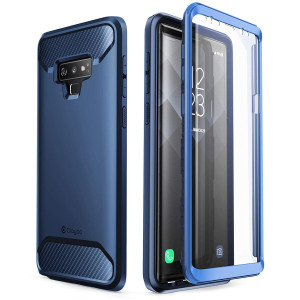 Clayco Samsung Galaxy Note 9 Case, [Xenon Series] Full-Body Rugged Case with Built-in 3D Curved Screen Protector for Samsung Galaxy Note 9 (2018 Release) (Blue)
