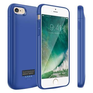 iPhone 6/6s Battery Case, 4000mAh Slim Portable Battery Charger Case, Rechargeable Extended Battery Pack Charging Case for iPhone 6/6s-Blue