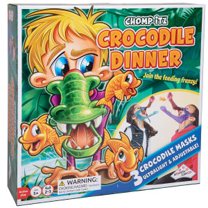 Chomp-Itz Crocodile Dinner - Join The Feeding Frenzy Includes 3 Masks - Ages 5 and Up - 2 to 3 Players