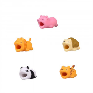 Dasen Cute Animal Cable Bite Cable Protector for Phone Charging Cable Android Cable lightting Micro USB Type-c