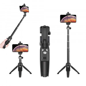 Wevon Selfie Stick Tripod, 40 inch Extendable Selfie Stick with Tripod, Phone Tripod with Wireless Remote Shutter Compatible with iPhone Xs Max Xr X 8 7 6 6s 5 Plus, Android, Samsung Galaxy and more