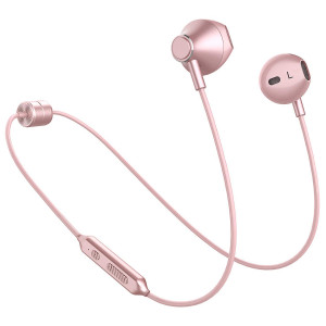 Picun Wireless Headphones CSR 10 Hrs Playback Sport Bluetooth Headphones HiFi Stereo Sound In-Ear Anti-fall off Earbuds with Mic, IPX5 Waterproof Magnetic Earphones for Workout Gym Running (Rose Gold)