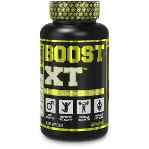 Boost-XT Testosterone Booster for Men - Boost Energy, Strength, Fat Loss, Libido - Natural Test Booster and Muscle Builder with Primavie Shilajit, Forskolin, More - 60 Veggie Pills