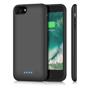 Battery Case for iPhone 8/7, Upgraded 6000mAh Rechargeable Portable Charger Case Extended Battery Pack for Apple iPhone 8 and iPhone 7 Protective Charging Case (4.7 inch)- Black