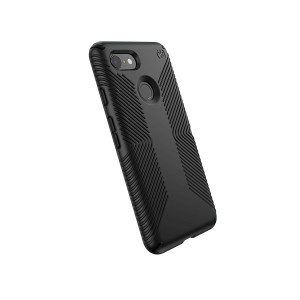 Speck Products Compatible Phone Case for Google Pixel 3, Presidio Grip Case, Black/Black