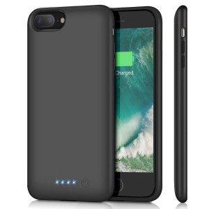 Battery Case for iPhone 8 Plus/ 7 Plus 8500mAh, Upgraded HETP Protective Rechargeable Extended Battery Pack for iPhone 7Plus Charging Case for Apple iPhone 8Plus Portable Power Bank (5.5 inch) - Black