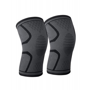 Laifugo CS-15 Knee Compression Sleeves (1 Pair) - Crossfit Knee Brace, Knee Support and Pain Relief in Weight Lifting, Knee Sleeves for Both Men and Women (M, Black)