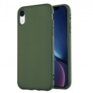 "iPhone XR Case,iPhone XR Phone Case, Manleno Slim Fit Full Matte Skin Case Soft Flexible TPU Silicone Cover Case for iPhone XR 6.1"" (Military Green)"