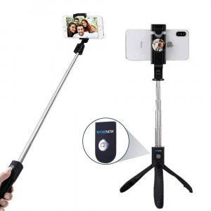 WORNEW Selfie Stick Tripod Stand Holder Extendable with Bluetooth Remote Compatible with Samsung Galaxy S7/7 Plus /S8/8 plus/S9/9 Plus iOS and Android Cellphone/Phone X/Phone 8/8 Plus