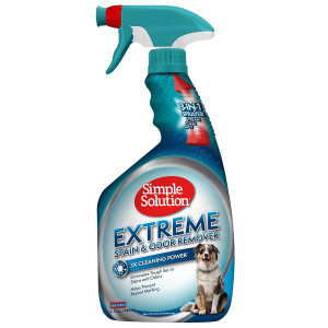 Simple Solution Extreme Pet Stain and Odor Remover | Enzymatic Cleaner with 3X Pro-Bacteria Cleaning Power