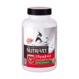 Nutri-Vet Hip and Joint Extra Strength Chewables for Dogs, 75 count