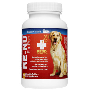 Redd Remedies - RE-NU for Pets, Promotes Joint Health for Your Dog with Natural Eggshell Membrane, 60 Count