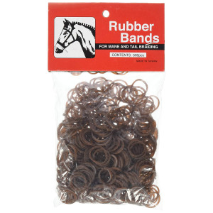 """Partrade 245913 222695 Rubber Braid Bands, Brown, 5"""""""
