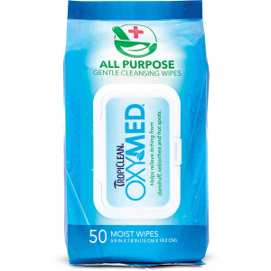 TropiClean OXYMED All Purpose Wipes, 50 ct