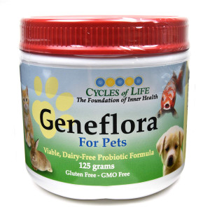 Geneflora Probiotics for Dogs, Best Probiotic for Cats, Prebiotic, Natural Digestive Enzymes to Improve Dog Diarrhea, Upset Stomach, Bad Breath, Allergies, Candida, Yeast, Gas - 125g
