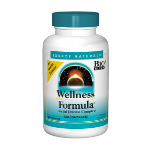 Source Naturals Wellness Formula Bio-Aligned Supplement Herbal Defense Complex Immune System Support and Immunity Booster Wholefood With Vitamins and Antioxidants - 120 Capsules