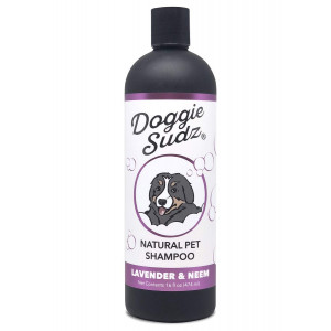 Austin Rose, Inc Natural Dog Shampoo and Conditioner by Doggie Sudz   Soothing Hypoallergenic Dog Shampoo Infused with Neem Oil for Itchy Skin Relief and Silky Smooth Fur