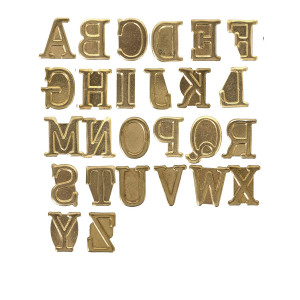 Walnut Hollow Hotstamps Uppercase Alphabet Branding and Personalization Set for Wood and other Surfaces