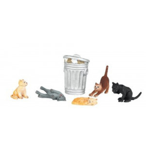 Bachmann Trains Cats with Garbage Can