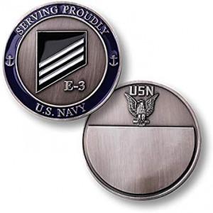 Navy Rank E-3/White