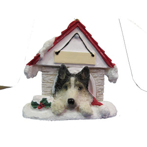 """Siberian Husky Ornament A Great Gift For Siberian Husky Owners Hand Painted and Easily Personalized """"Doghouse Ornament"""" With Magnetic Back"""
