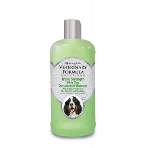 Veterinary Formula Solutions Triple Strength Dirty Dog Concentrated Shampoo  DirtRepel Technology Cleans Extra Dirty and Smelly Dogs  With Wheat Protein, Shea Butter, Aloe, Vitamin E (17oz)