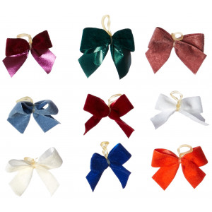 P.S.I. Imports DPS2817 50-Pack Latex Pre-Tied Velvet Style Dog Grooming Bow Assortment