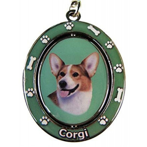 """Welsh Corgi Key Chain """"Spinning Pet Key Chains""""Double Sided Spinning Center With Welsh Corgis Face Made Of Heavy Quality Metal Unique Stylish Welsh Corgi Gifts"""